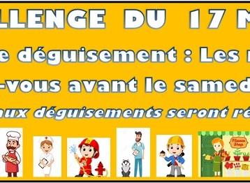 Horaires et montoirs du challenge du 17 mars!!!